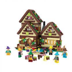 Winner 5005 Xếp hình kiểu Lego SNOW WHITE PRINCESS Wei Le Snow White Dwarf's Wooden House Nàng Bạch Tuyết Và 7 Chú Lùn 658 khối