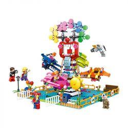 PanlosBrick 692010 Panlos Brick 692010 Xếp hình kiểu Lego Paradise Space Rotating Spacecraft Máy Bay Xoay Vòng 713 khối