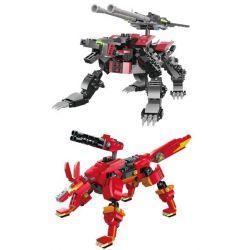 Kazi Gao Bo Le Gbl Bozhi KY98114 (NOT Lego Transformers Lightning Saix, Red Shadow Fox ) Xếp hình Sói Sét Và Cáo Lửa gồm 2 hộp nhỏ 711 khối