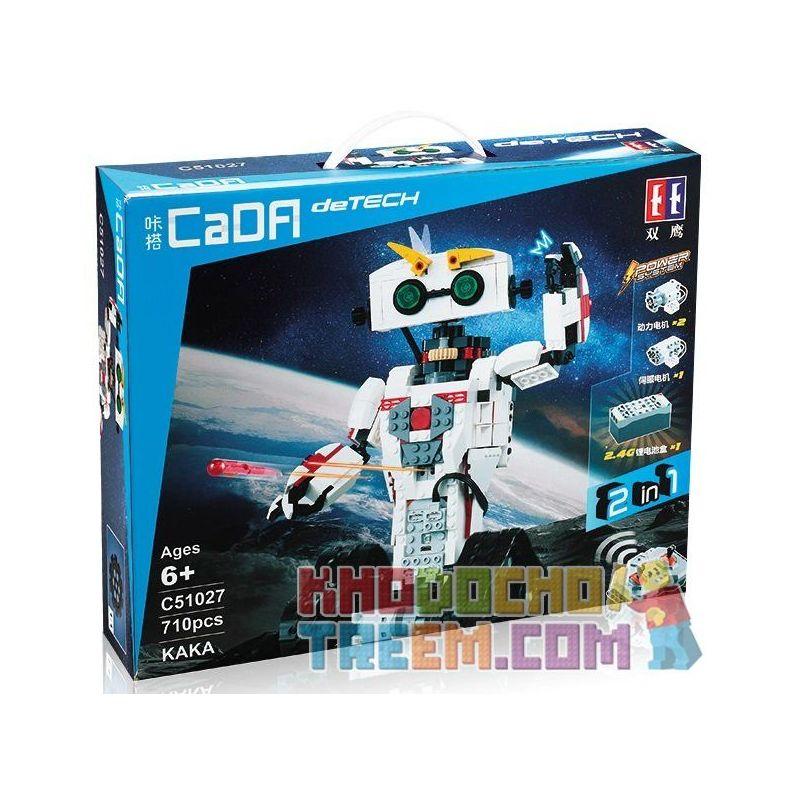 DOUBLEE CADA C51027 51027 Xếp hình kiểu Lego TECHNIC KAKA Remote Control Robot, War Robot Biến Hình Bọ Cạp 710 khối điều khiển từ xa