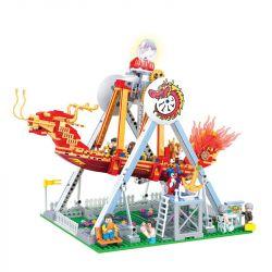 Winner 7033 Xếp hình kiểu Lego City Modern Paradise Pirate Ship Trò Chơi Thuyền Lắc 710 khối