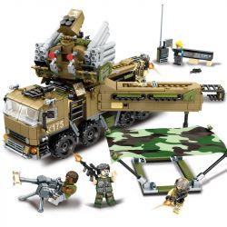 SEMBO 11716 Xếp hình kiểu Lego BLACK GOLD Black Plan Armor S1 Mining Mobile Defense Command Hệ Thống Phòng Thủ Tầm Gần Pantsir S1 704 khối