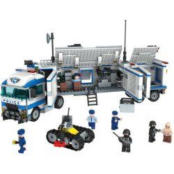 Winner 7005 (NOT Lego Police City Police ) Xếp hình Trung Tâm Chỉ Huy Trên Xe Tải Của Cảnh Sát 700 khối