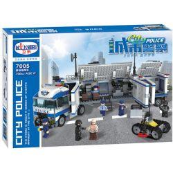 Winner 7005 Xếp hình kiểu Lego City Police Urban Police Mobile Command Vehicle Trung Tâm Chỉ Huy Trên Xe Tải Của Cảnh Sát 700 khối