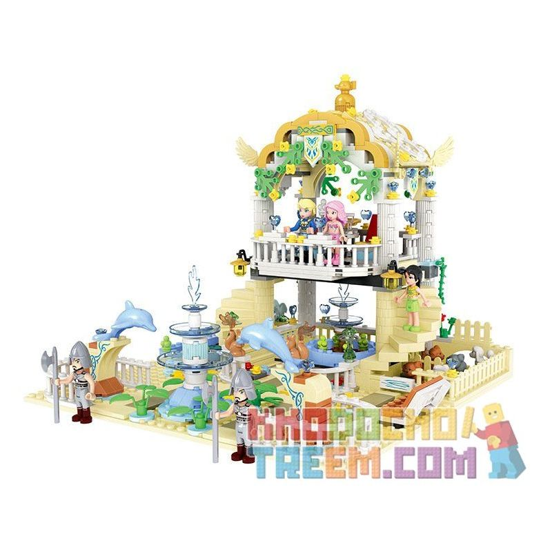 Winner 5012 Xếp hình kiểu Lego MERMAID Wei Mei Fish Prince Garden Vườn Thượng Uyển 700 khối
