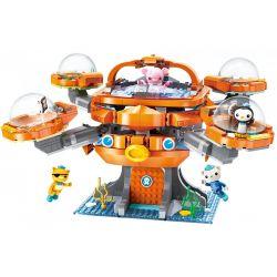 Enlighten 3708 Qman 3708 Xếp hình kiểu Lego OCTONAUTS Seabed Small Column Octopus Đội Cứu Hộ Biển 698 khối