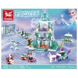 TENMA TM3006 3006 Xếp hình kiểu Lego DISNEY PRINCESS Lâu đài Elsa 694 khối