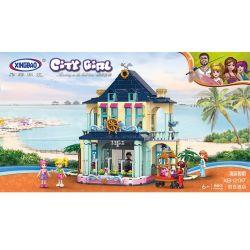 XINGBAO XB-12017 12017 XB12017 Xếp hình kiểu Lego CityGirl Holiday Inn City Girl Holiday Hotel Biệt Thự Bên Bờ Biển Của Các Cô Gái 693 khối