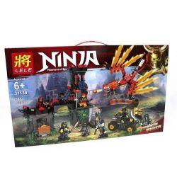 LELE 31138 Xếp hình kiểu THE LEGO NINJAGO MOVIE Ninja Masters Of Spinjitzu Flame Temple Siege Scene Cuộc Vây Hãm Ngôi Đền Lửa Thiêng 593 khối
