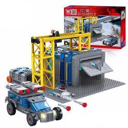 Kazi KY81010 81010 Xếp hình kiểu Lego RED ALERT 3 RED ALERT 3 War Factory Red Warning Allied Warfare Factory Ô Tô Gắn Tên Lửa 679 khối