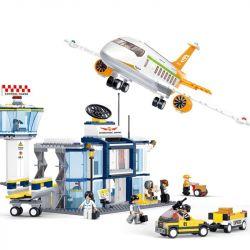 SLUBAN M38-B0367 B0367 0367 M38B0367 38-B0367 Xếp hình kiểu Lego CITY Aviation Aerospace World International Airport Sân Bay 678 khối