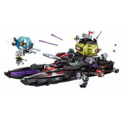 Enlighten 2719 Qman 2719 Xếp hình kiểu Lego THE HIGH-TECH ERA Technology Era I Black Shark Cruiser Tàu Chiến Của Quân Khủng Bố 675 khối