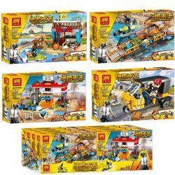LELE 36044 36044-1 36044-2 36044-3 36044-4 Xếp hình kiểu Lego PUBG BATTLEGROUNDS Jedi Survival Frontier Defense Battle Scene 4 4 Khung Cảnh gồm 4 hộp nhỏ 670 khối