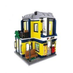 HSANHE 6705 Xếp hình kiểu Lego MODULAR BUILDINGS Snooker Room Nhà chơi bi-a 472 khối