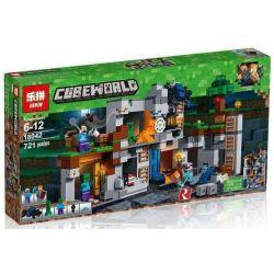 Bela 10990 Lari 10990 BLX 81072 LEPIN 18042 Xếp hình kiểu Lego MINECRAFT The Bedrock Adventures My World Rock Stock Adventure Cuộc Phiêu Lưu Của Bedrock 644 khối