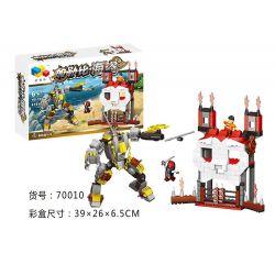 QIZHILE 70010 Xếp hình kiểu Lego PIRATES OF THE CARIBBEAN Attacking The Skull's Castle Tấn công lâu đài đầu lâu 416 khối
