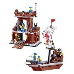 JIE STAR 30007 Xếp hình kiểu Lego PIRATES OF THE CARIBBEAN Headquarters Base Trụ sở chính của quân hải tặc 431 khối