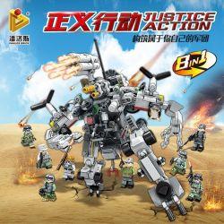 Panlosbrick 631002 (NOT Lego Transformers Justice Action ) Xếp hình 8 Thiết Bị Kết Hợp Thành Robot Khổng Lồ gồm 8 hộp nhỏ 620 khối