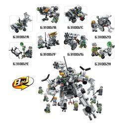 Panlosbrick 631002 (NOT Lego Justice Action Justice Action ) Xếp hình 8 Thiết Bị Kết Hợp Thành Robot Khổng Lồ gồm 8 hộp nhỏ 620 khối