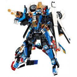 Enlighten 3302 (NOT Lego Transformers Blast Ranger:blade Warrior ) Xếp hình Bộ Lắp Ráp Người Máy Biến Hình Thành Máy Bay 448 khối