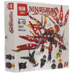 LEPIN 39001 SHENG YUAN SY S8500 8500 SY546 Xếp hình kiểu THE LEGO NINJAGO MOVIE Attack Of Kai Dragon Flying Pirate Attack Kai's Dahonglong Cướp Biển Bay Tấn Công Con Rồng đỏ Lớn Của Kai 448 khối