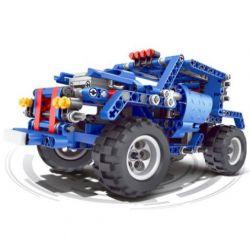 QIZHILE 6043 Xếp hình kiểu Lego STORM RACING Blue Off-road Vehicle Xe địa Hình 382 khối