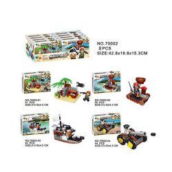 QIZHILE 70002 Xếp hình kiểu Lego PIRATES OF THE CARIBBEAN Attack Captain Jack Sparrow Cuộc tấn công Thuyền trưởng Jack Sparrow cua quân đội 392 khối