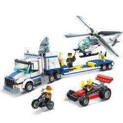 WANGE DR.LUCK 52014 Xếp hình kiểu Lego GEAR PoliceHermione Keyring Harry Potter Hermionic Keychain Xe Vận Chuyển Trực Thăng 393 khối