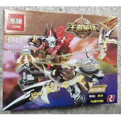 Lepin 40010 (NOT Lego King of Glory Hegemony Genghis Khan Devil King With Weapon Bow And Arrow ) Xếp hình Chúa Tể Thành Cát Tư Hãn Với Cung Tên Thần 393 khối