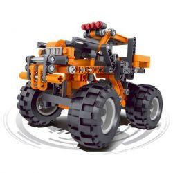 QIZHILE 6044 Xếp hình kiểu Lego STORM RACING Orange Off-road Vehicle Xe địa Hình 284 khối
