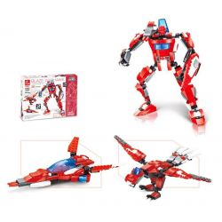 Jie Star 27027 (NOT Lego Creator 3 in 1 Blaze Warhawk ) Xếp hình Chim Ưng Lửa lắp được 3 mẫu 285 khối