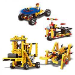 WANGE DR.LUCK 1403 Xếp hình kiểu Lego MINDSTORMS Power Machinsry Forklift、Scooter、Cricket、Ranging Car Power Machinery Forklift, Electric Bicycle, 蟋蟀, Ranging Car Xe Nâng Hàng Chạy Bằng điện 292 khối c