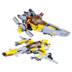 Jie Star 20203 (NOT Lego Star wars Flying Leopard Fighter & Ultimate Battleship ) Xếp hình Phi Thuyền Leopard Và Chiến Hạm Tối Hậu 293 khối