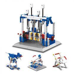 WANGE DR.LUCK 1404 Xếp hình kiểu Lego MINDSTORMS Power Machinsry Engine、Foldable Chair、Impacr Hammer、Dinosaur Power Machinery Engine, Folding Chair, Impact Hammer, Dinosaur Mô Hình động Cơ Chạy Bằng đ