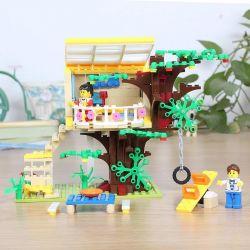 WANGE 32214N Xếp hình kiểu Lego FRIENDS The Shop On The Tree Cửa hàng trên cây 303 khối