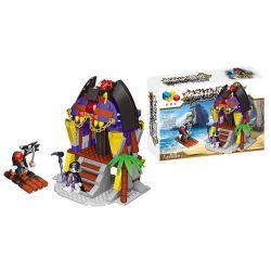 QIZHILE 70007 Xếp hình kiểu Lego PIRATES OF THE CARIBBEAN Pirate's Base Căn cứ hải tặc 262 khối