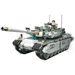PanlosBrick 632003 Panlos Brick 632003 Xếp hình kiểu Lego CREATOR Leopard 2 Main Battle Tank Xe Tăng Đánh Chủ Lực 2311 khối