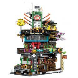 LEPIN 03057 03057A 03057B 03057C 03057D Xếp hình kiểu THE LEGO NINJAGO MOVIE The New Ninjasaga Blocks Ninja City 4 In 1 Các Trụ Sở Thành Phố Ninja gồm 4 hộp nhỏ 1955 khối