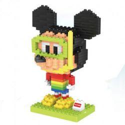 HuiMei Star City Xing Dou Cheng HM202 Xếp hình kiểu LEGO Duplo Mickey in diving suit Mickey mặc đồ lặn 300 khối
