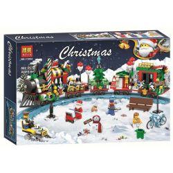 Bela 11094 Lari 11094 Jemlou 20067 Xếp hình kiểu Lego SEASONAL Christmas Train Chuyến Tàu Lửa Mùa Giáng Sinh 552 khối