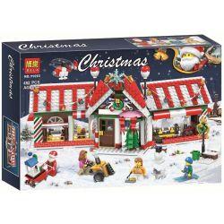 Bela 11093 Lari 11093 Jemlou 20066 Xếp hình kiểu Lego SEASONAL Christmas Red House Ngôi Nhà Giáng Sinh 492 khối