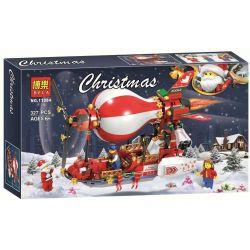Bela 11084 Lari 11084 Jemlou 20062 Xếp hình kiểu Lego SEASONAL Christmas Airship Tàu Bay Khí Cầu Giáng Sinh 327 khối