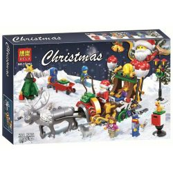 Bela 11092 Lari 11092 Jemlou 20065 Xếp hình kiểu Lego SEASONAL Christmas Elk Sled Cỗ Xe Tuần Lộc Của Ông Già Noel 221 khối