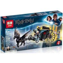 Bela 11008 Lari 11008 LELE 39149 LEPIN 16053 Xếp hình kiểu Lego HARRY POTTER Grindelwald's Escape Magic World Where Is The Magical Animal Green Divao Fled Cuộc Trốn Thoát Của Grindelwald 132 khối