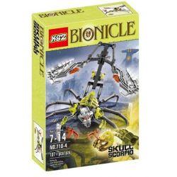 Decool 10707 Jisi 10707 XSZ KSZ 710-4 Xếp hình kiểu Lego BIONICLE Skull Scorpio Biochemical Warrior 骷髅 Skull Scorpio 107 khối