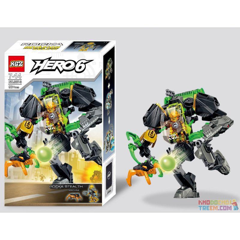 Decool 10503 Jisi 10503 XSZ KSZ 307-3 Xếp hình kiểu Lego HERO FACTORY ROCKA Stealth Machine Hero Factory Loca Contact Machine Cỗ Máy Giết Chóc 89 khối