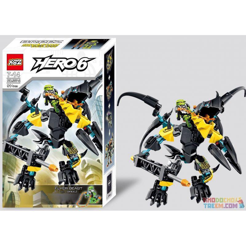 Decool 10504 Jisi 10504 XSZ KSZ 307-2 Xếp hình kiểu Lego HERO FACTORY FLYER Beast Vs. BREEZ Hero Factory Flying Beast To The Breeze Trận Chiến Với Quái Vật 91 khối