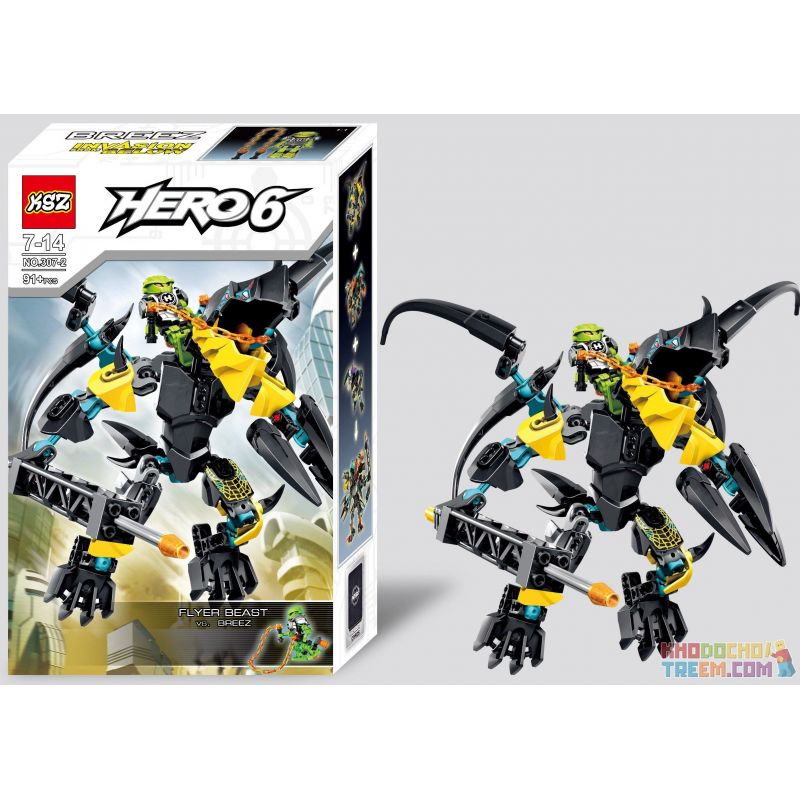 NOT Lego HERO FACTORY 44020 FLYER Beast Vs. BREEZ Hero Factory Flying Beast To The Breeze , Decool 10504 Jisi 10504 XSZ KSZ 307-2 Xếp hình Trận Chiến Với Quái Vật 91 khối