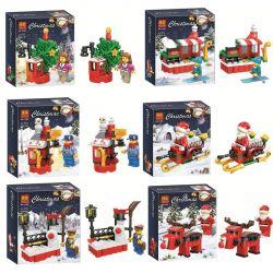 Bela 11086 Lari 11086 WINNER JEMLOU 20064 20064A 20064B 20064C 20064D 20064E 20064F Xếp hình kiểu Lego SEASONAL Christmas Human Small Scene 6 Những Khung Cảnh Giáng Sinh An Lành gồm 6 hộp nhỏ lắp được