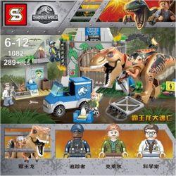 NOT Lego JUNIORS 10758 T. Rex Breakout Jurassic World 2 Tyrannosaurus Escape , Bela 10920 Lari 10920 SHENG YUAN SY 1082 Xếp hình Khủng Long Bạo Chúa Sổng Chuồng 150 khối